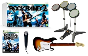 Rock Band 2 with Rock Set for XBOX 360 rental Los Angeles, CA