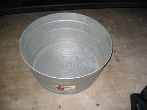 17 Gallon Galvanized Tub rental Austin, TX