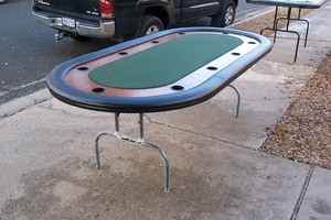 8 Foot Poker Texas hold'em table rental Austin, TX