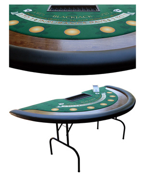 7ft Blackjack Table rental Austin, TX