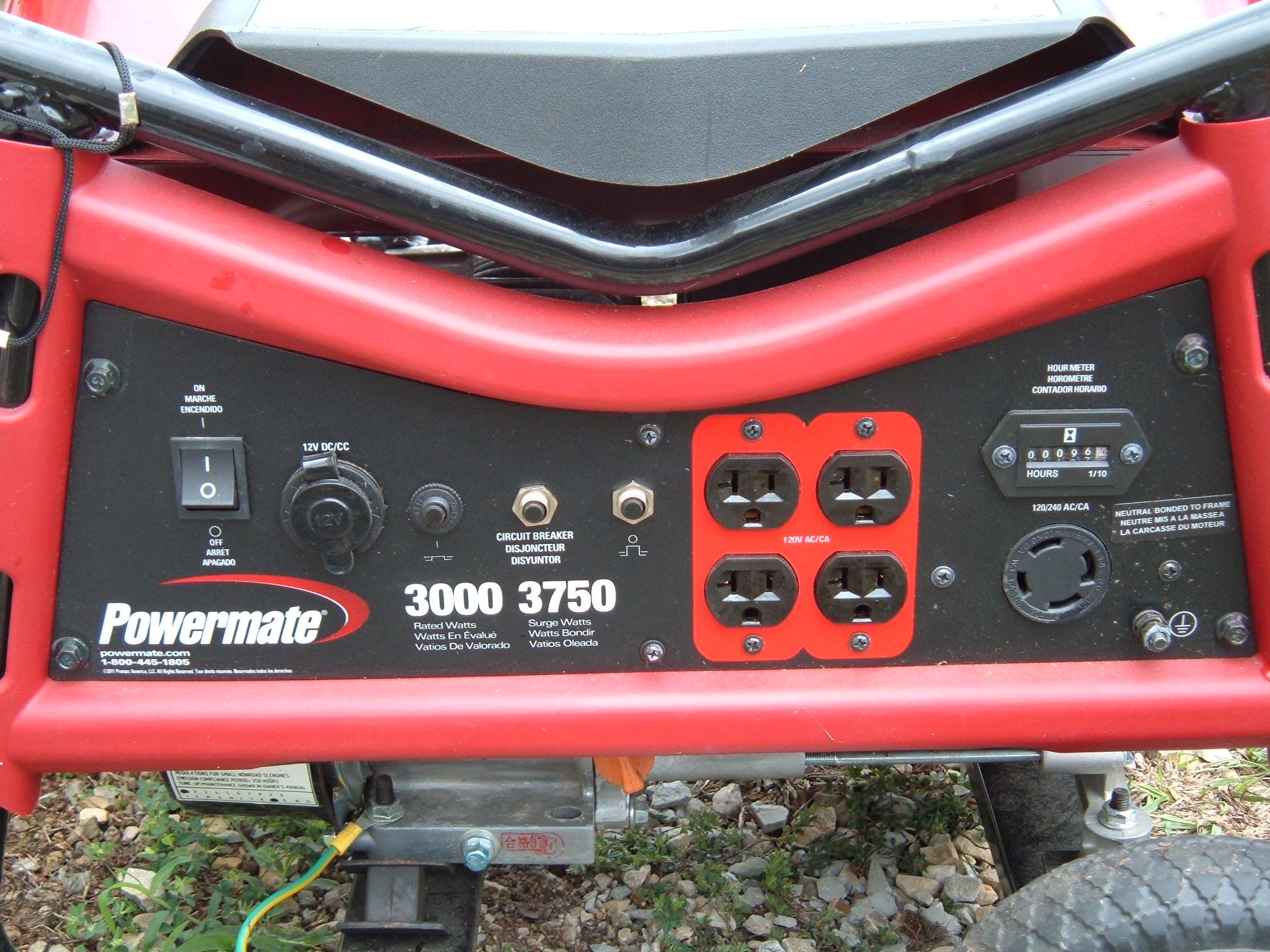 Loanables Powermate 3000 Watt Generator Rental Located In