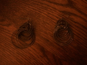 Lia Sophia Bronze Hoop earrings rental Harrisburg-Lancaster-York, PA
