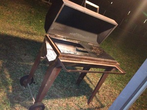Large charcoal/wood grill/smoker  rental Austin, TX