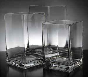 "Glass Graduated Cube Vases 6"", 7"", 8"" rental West Palm Beach-Ft. Pierce, FL"