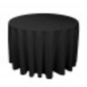 "Round Black Tablecloths 108"" rental West Palm Beach-Ft. Pierce, FL"