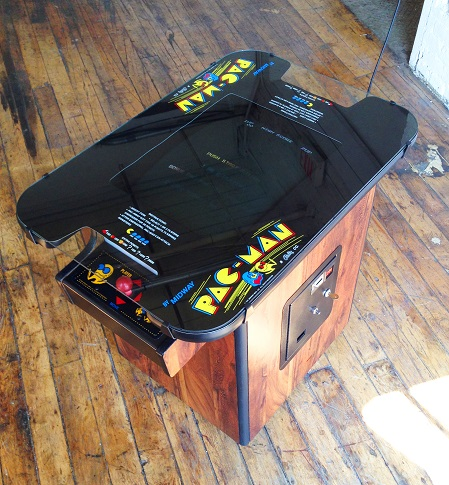 Pacman Table Game >> 1980 Pac Man Cocktail Table Arcade Game
