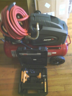 8 Gallon, 250 psi Air compressor and Nailer  rental Cleveland-Akron (Canton), OH