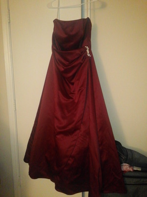 Strapless Deep Red Floor-Length Dress rental Atlanta, GA