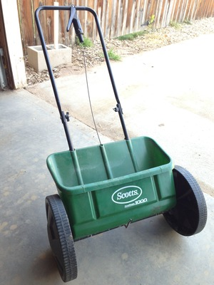 Grass seed spreader rental Denver, CO