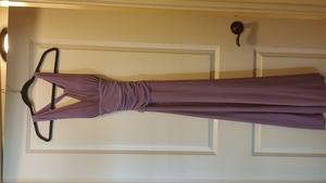 Cute Violet Long Dress rental Houston, TX