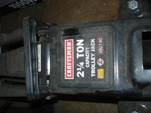 Craftsman 2-1/4 ton Floor Jack + Two stands rental Indianapolis, IN