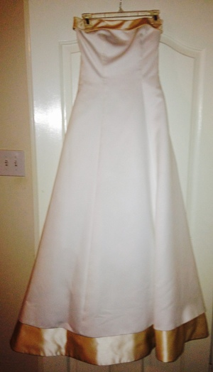 Size 8 Strapless Wedding Dress & Petticoat  rental Houston, TX