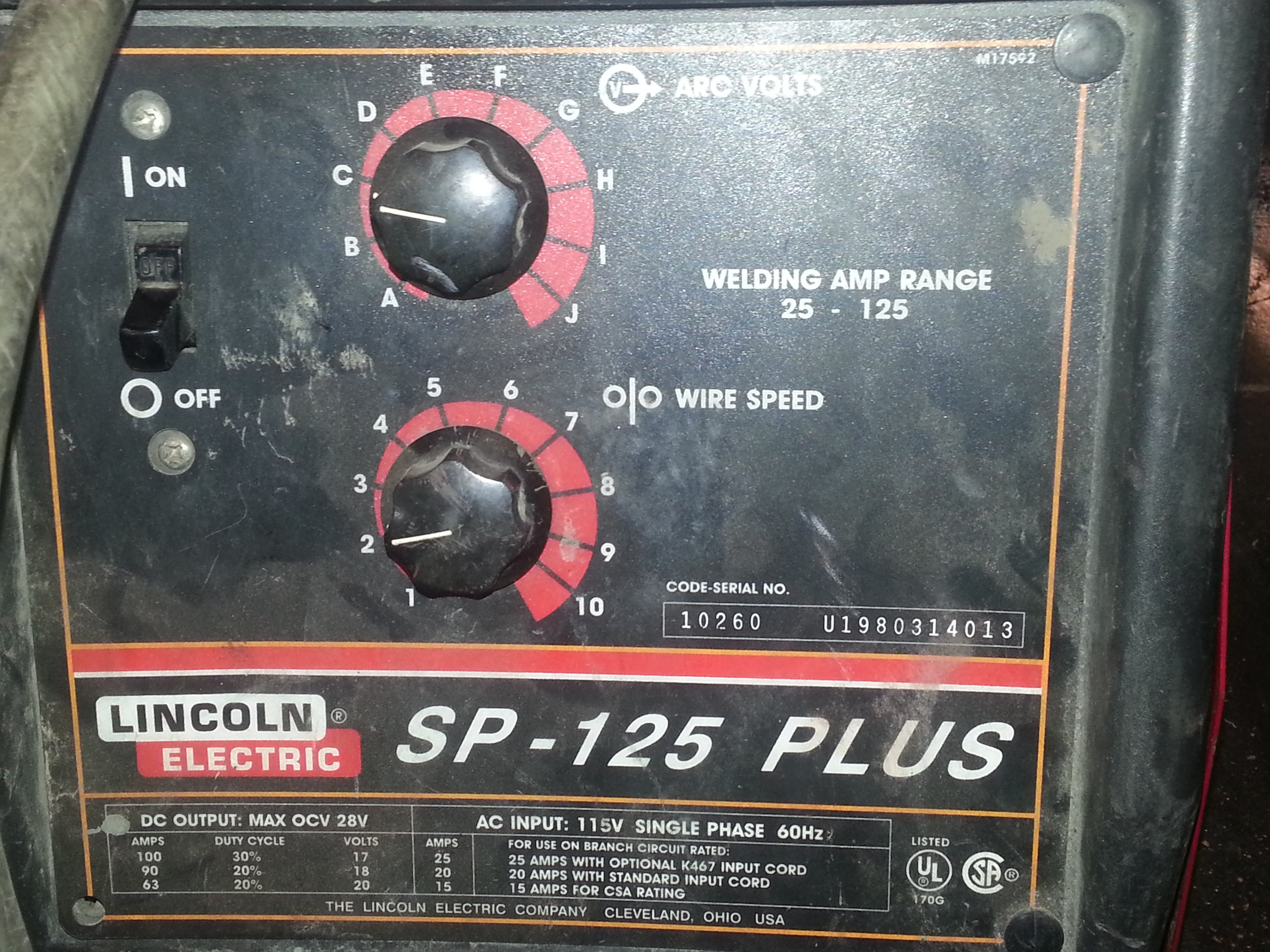 Loanables:Lincoln Electric 125-Plus Welder located in Elk Grove ...