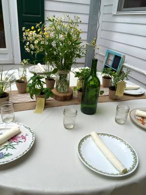 Garden Party Table Settings rental New York, NY