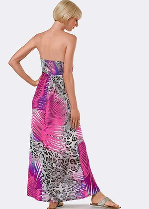 Strapless Print Maxi - size large rental Houston, TX