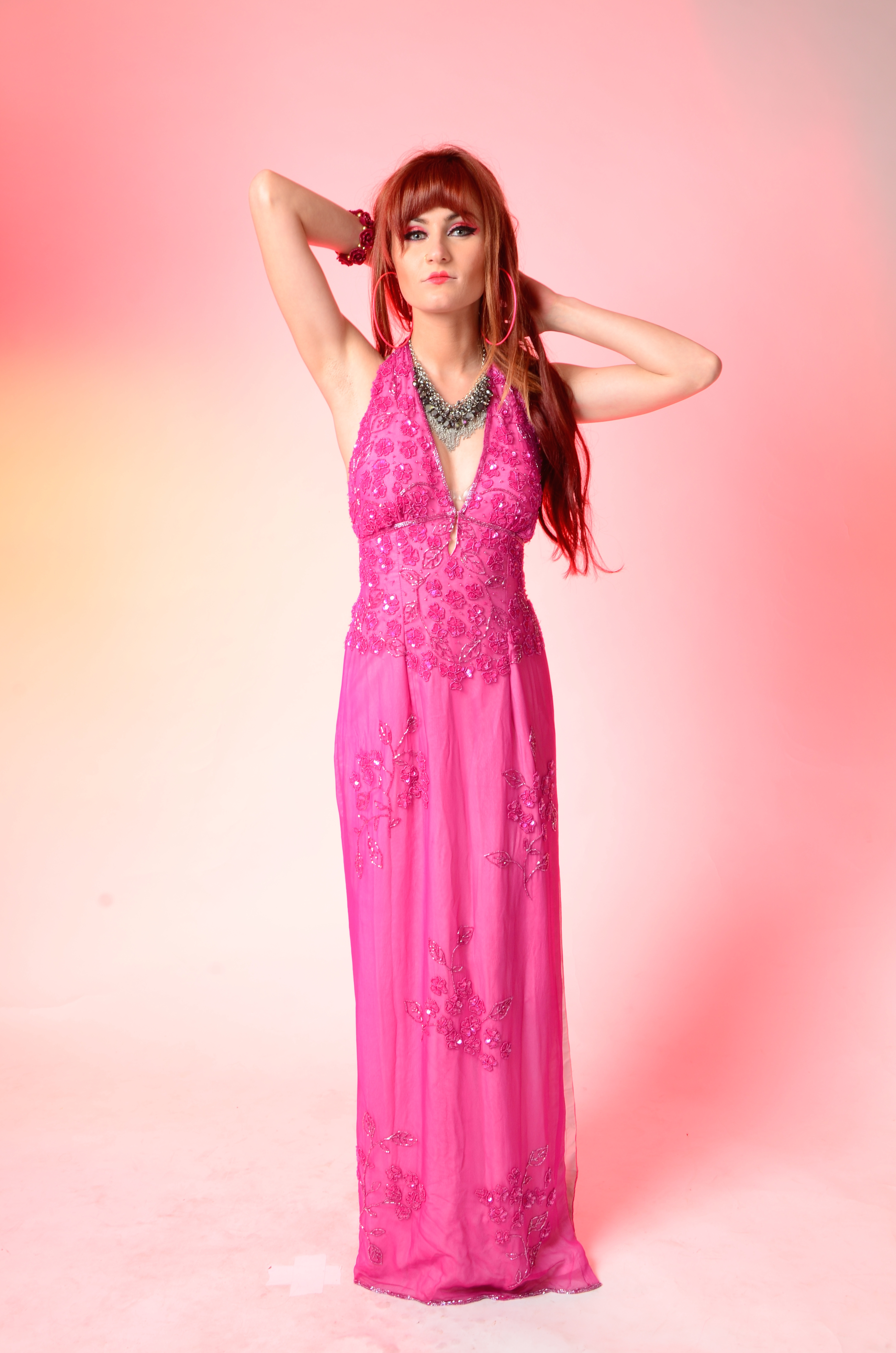 Loanables:Beautiful beaded fuchsia Prom/Evening Gown Dress! located ...