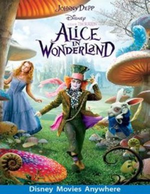Johnny Deep / Tim Burton Alice in Wonderland DVD rental Dallas-Ft. Worth, TX