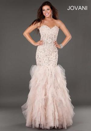 jovani blush pink mermaid dress rental Washington, DC (Hagerstown, MD)