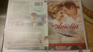 Amelia - DVD (2009) Hilary Swank, Richard Gere rental Boston, MA-Manchester, NH