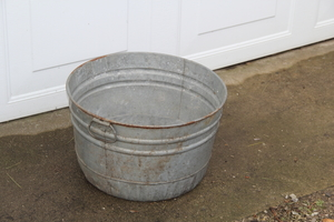 Galvanized Tub - Distressed with holes in bottom  rental Traverse City-Cadillac, MI