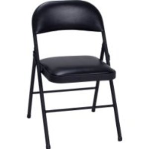 8 Black Padded Folding Chairs rental Rochester, NY