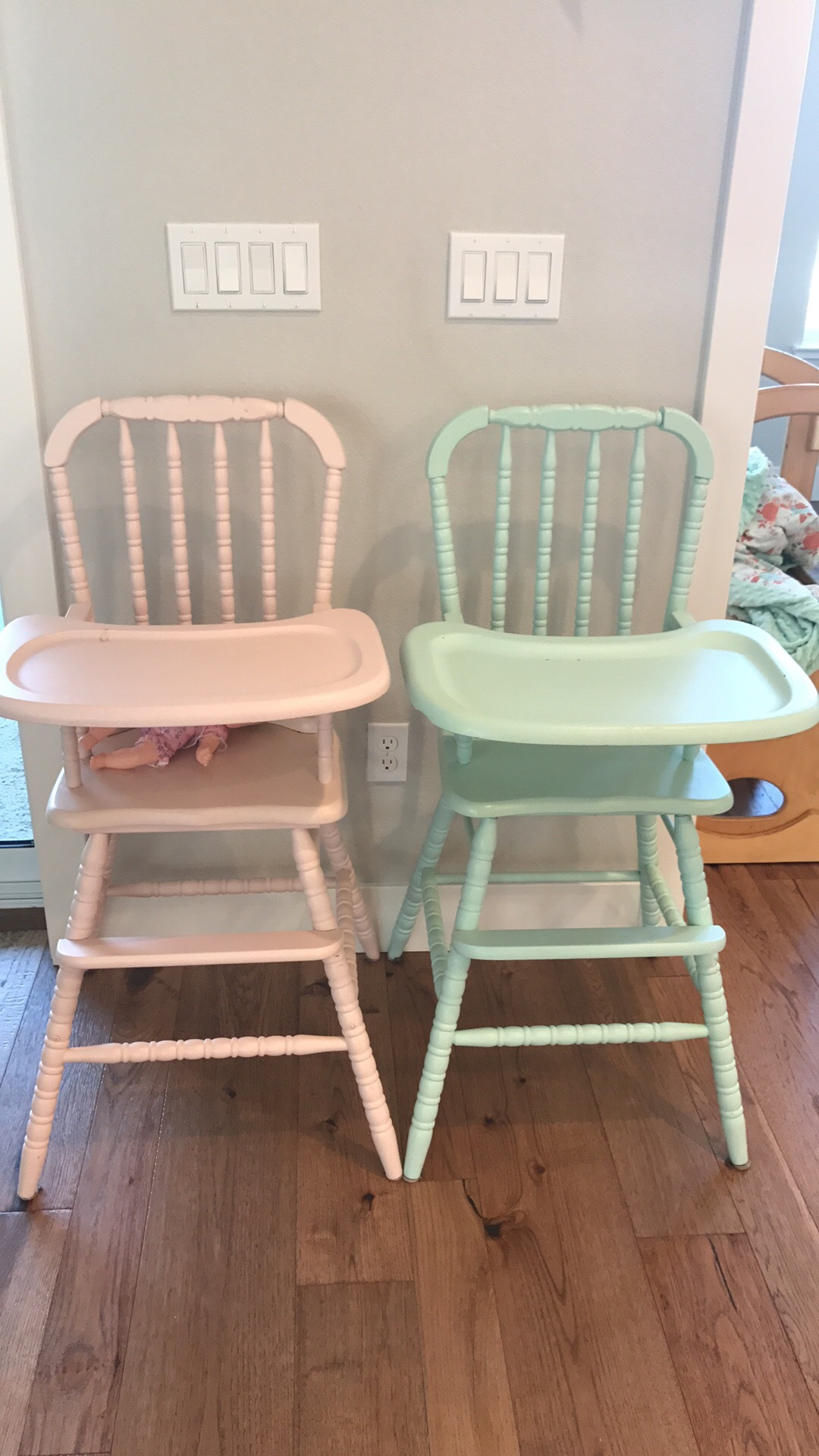 Jenny Lind High Chair & Loanables:Jenny Lind High Chair located in Brentwood CA
