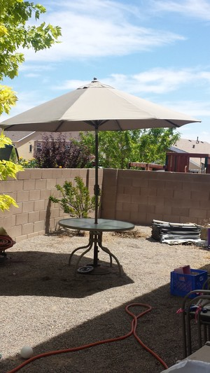 Patio Table with Umbrella rental Albuquerque-Santa Fe, NM
