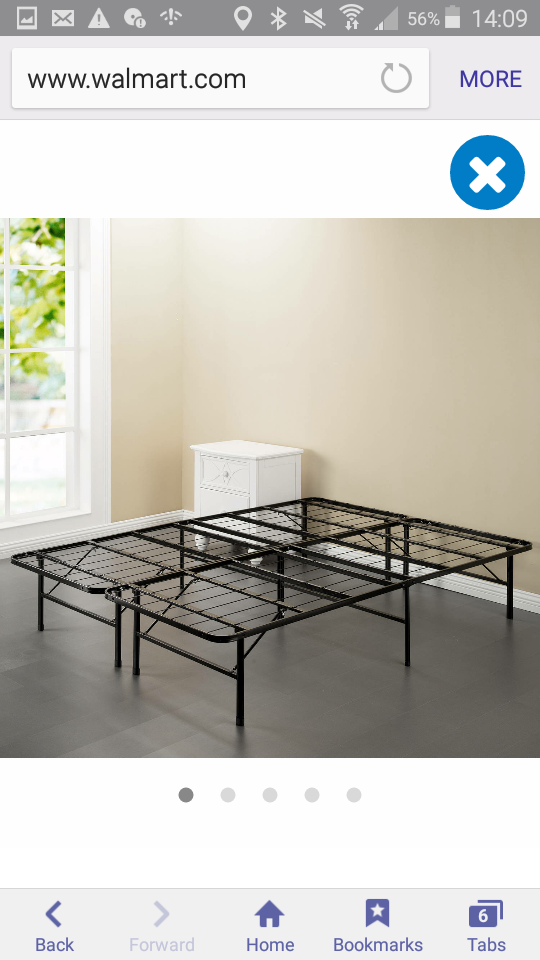 Loanables:steel smart base bed frame located in akron , OH