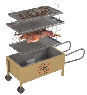 China box / bbq box, pig roaster rental Providence, RI-New Bedford, MA
