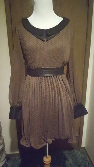 Brown and black polka dot dress rental Seattle-Tacoma, WA