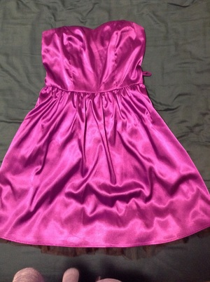 Purple Strapless Dress-Ruby Rox rental Portland, OR