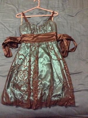 Blue and black lace dress rental Portland, OR