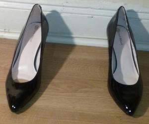 Black Patton Leather Short Heel Shoes rental New York, NY