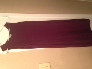 simple purple semi formal dress rental Austin, TX