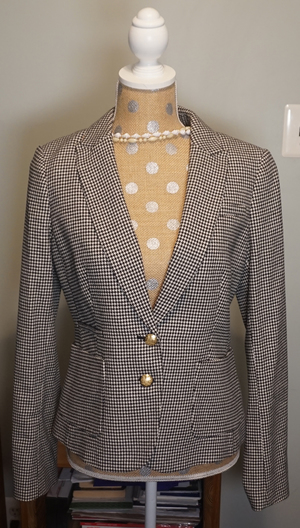 Business Houndstooth Wool Womens Blazer rental Philadelphia, PA