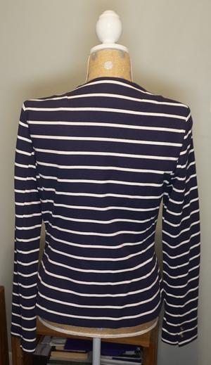 Navy & White Striped One-Button Blazer rental Philadelphia, PA