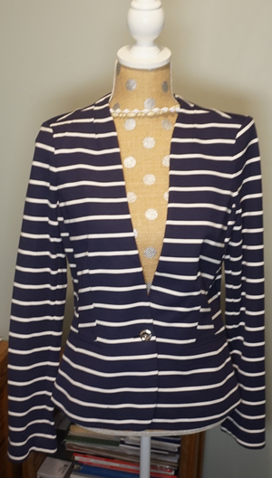 Navy & White Striped One-Button Blazer rental Philadelphia, PA