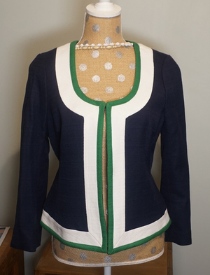 Open Front Textured Cotton Dress Jacket rental Philadelphia, PA