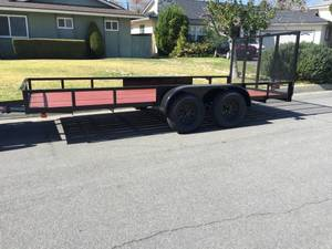 8x16 dual axle utility trailer  rental Los Angeles, CA