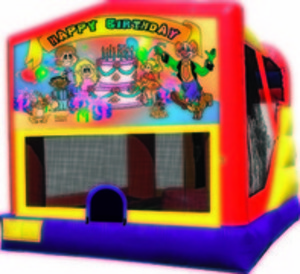 Bounce House & Slide Combo - Happy Birthday rental Austin, TX