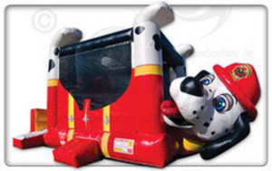 Bounce House & Slide Combo - Fire Dog rental Austin, TX
