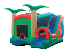Bounce House Jump N Slide Combo - Tropical rental Austin, TX