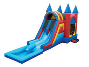 Dual Lane Jump & Slide Water Slide -  rental Austin, TX
