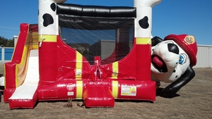 Fire Dog Bounce House Party Package rental Austin, TX