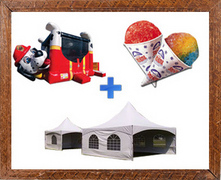 Loanables:Fire Dog Bounce House Party Package Rental ...