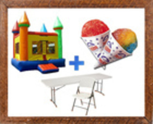 Bounce House + Snow Cone Machine Party Package rental Austin, TX