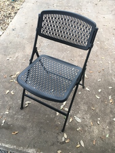 8 black folding chairs rental Austin, TX