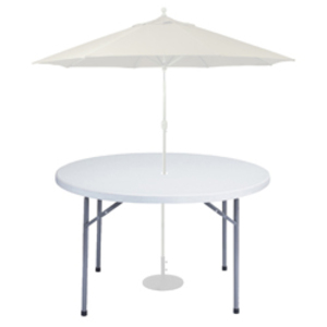 "Tables - 48"" Round Umbrella  rental Austin, TX"