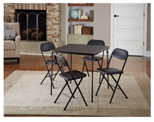 Black card table & 4 chairs rental Austin, TX