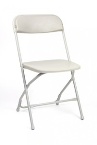 White Folding Chair rental Austin, TX